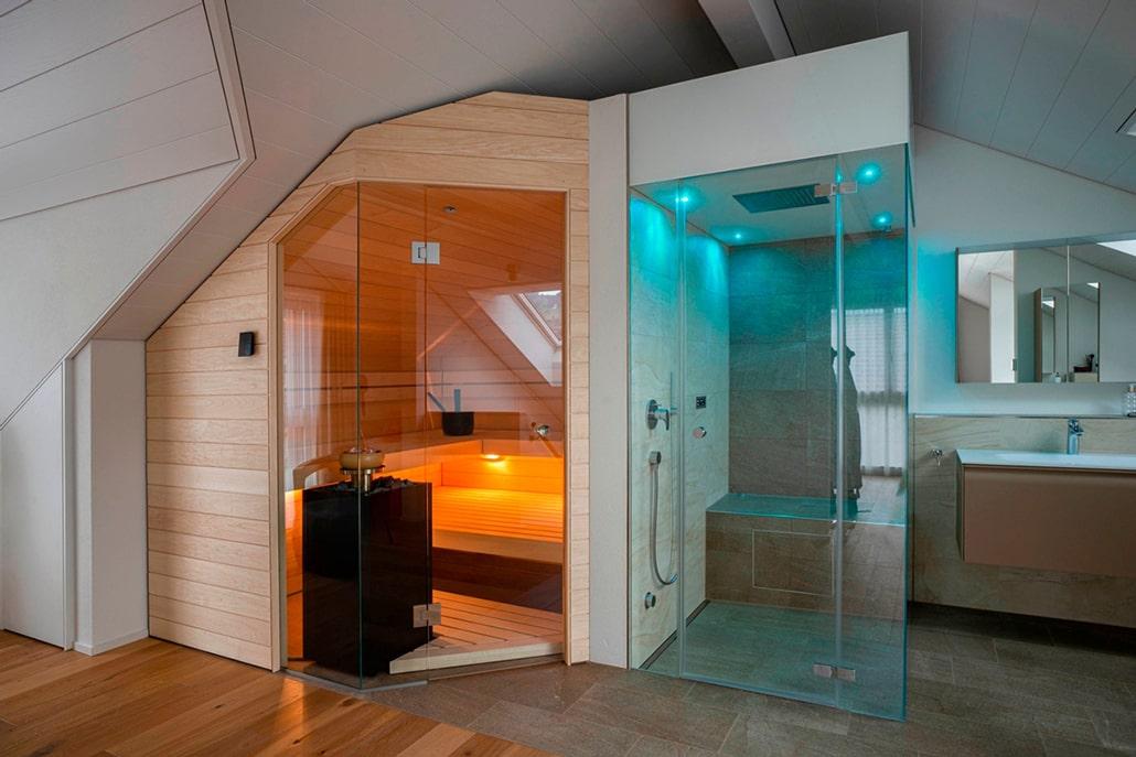 Sauna Bad Dachschräge