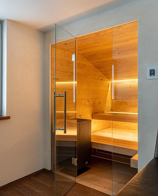 Sauna Dachschräge leicht