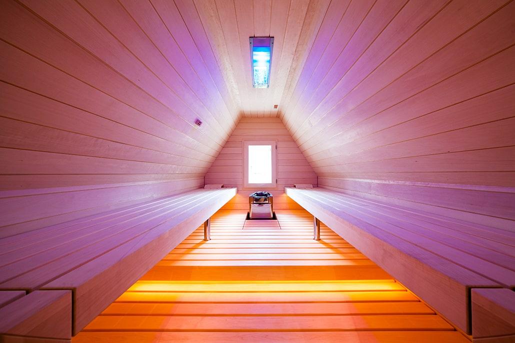 Sauna Dachschrägen
