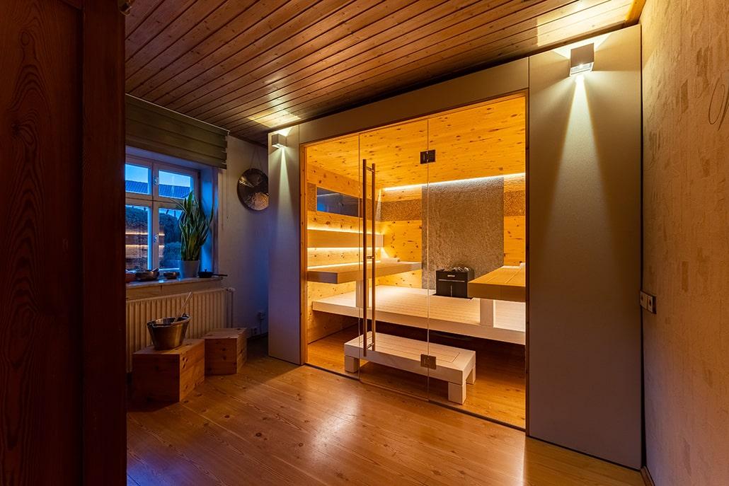 Saunabau Ingolstadt Fenster